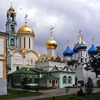 Photo taken at The Holy Trinity-St. Sergius Lavra by Natalia on 3/1/2013