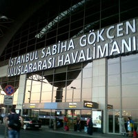 Photo taken at Istanbul Sabiha Gökçen International Airport (SAW) by Oğuz E. on 9/3/2013