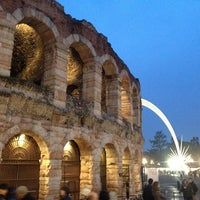 Photo taken at Arena di Verona by Olya on 1/13/2013