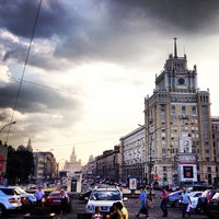 Photo taken at Triumfalnaya Square by Nikita V. on 7/4/2013