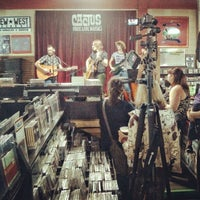 Photo taken at Cactus Music by Tom P. on 2/23/2013