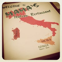 Photo taken at Mama's Italian Restaurant by Brandon N. on 8/3/2013
