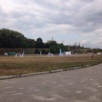 Photo taken at Стадион ДНУ by Екатерина П. on 9/24/2016