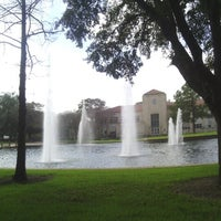Photo taken at Cullen Fountain by rodolfo m. on 2/5/2013