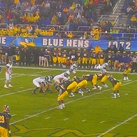 Photo taken at Delaware Stadium by Kenny M. on 9/21/2013