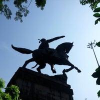 Photo taken at Shivaji Park by Saurabh B. on 9/30/2012