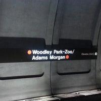 Photo taken at Woodley Park-Zoo/Adams Morgan Metro Station by Evan on 9/25/2012