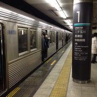 Photo taken at Den-en-toshi Line Sangen-jaya Station (DT03) by Leon Tsunehiro Yu-Tsu T. on 12/17/2012