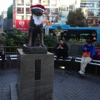 Photo taken at Hachiko Statue by Leon Tsunehiro Yu-Tsu T. on 12/25/2012