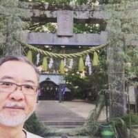 Photo taken at 現人神社 by Tatsuya N. on 7/31/2016