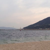 Photo taken at Suma Coast by みいちゃ on 2/7/2013