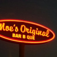 Photo taken at Moe's Original BBQ by Brian M. on 9/21/2012