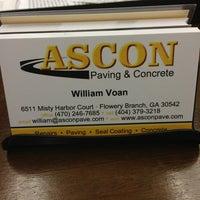 Photo taken at Ascon Paving & Concrete, LLC by Robier A. on 8/2/2013