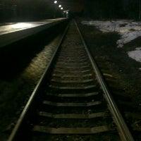 Photo taken at Ж/Д платформа Рахья by Andrey Z. on 4/12/2013