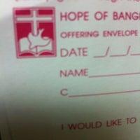 Photo taken at Hope Bangkok Church by pry 1. on 12/9/2012