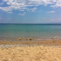 Photo taken at Plaka Beach by Lia on 7/19/2013