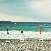 Photo taken at Plaka Beach by Lia on 7/15/2013
