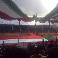 Photo taken at Stadion Datu Adil by Fadilah R. on 3/1/2014