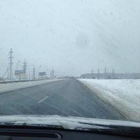 Photo taken at Обводное шоссе by Tatiana S. on 1/8/2014