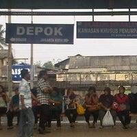 Photo taken at Stasiun Depok Lama by David D. on 3/5/2013