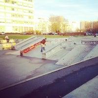 Photo taken at Skatepark Lingner Allee by Valentín M. on 1/7/2014