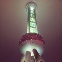 Photo taken at Oriental Pearl Tower by Vitaliy K. on 11/25/2012