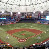 Photo taken at Tropicana Field by Pamela H. on 4/7/2013