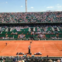 Photo taken at Stade Roland Garros by Luci D. on 6/5/2013