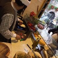 Photo taken at Lahuhe Original Yemanite Food Bar by Mollie T. on 1/12/2014