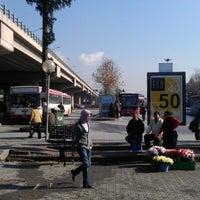 Photo taken at Bornova Metro Otobüs Durağı by Mustafa Metin Ç. on 1/13/2013