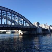 Photo taken at Kachidoki Bridge by takesan a. on 12/12/2012