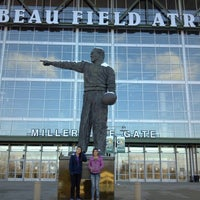 Photo taken at Lambeau Field by Julie F. on 11/25/2012