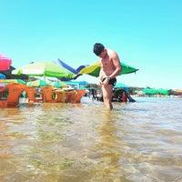 Photo taken at Praia do Cacau by Walison P. on 7/16/2016