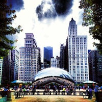 Photo taken at Cloud Gate by Anish Kapoor by David B. on 6/9/2013