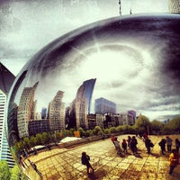 Photo taken at Cloud Gate by Anish Kapoor by David B. on 5/6/2013