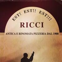 Photo taken at Antica Pizzeria Fratelli Ricci Est! Est!! Est!!! by Brieuc on 2/2/2013