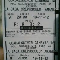 Photo taken at Cines Guadalquivir by Darío C. on 11/19/2012