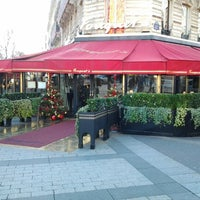 Photo taken at Le Fouquet's by Safa T. on 12/30/2012
