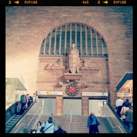 Photo taken at Stuttgart Hauptbahnhof by Henrique B. on 10/22/2012