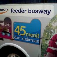 Photo taken at Terminal Feeder Busway Trans BSD by Reinhart P. on 6/2/2013