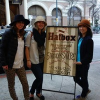 Photo taken at Hatbox: A Modern Haberdashery by Stephanie W. on 3/11/2014