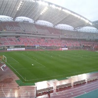 Photo taken at Denka Big Swan Stadium by ゆりる on 7/6/2013