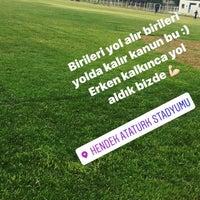 Photo taken at Hendek Atatürk Stadyumu by Bukle Ü. on 8/16/2017