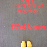 Photo taken at Carrefour market by Beste İ. on 3/11/2014