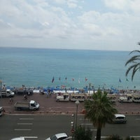 Photo taken at Rooftop Pool @ Le Méridien Nice by Alper on 6/28/2014