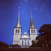 Photo taken at Hofkirche by henry s. on 7/24/2014