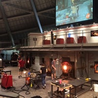 Photo taken at The Hot Shop at the Museum Of Glass by Myrna on 5/9/2015