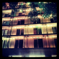 Photo taken at Lanchid 19 Design Hotel Budapest by Orsi B. on 9/23/2012