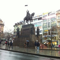 Photo taken at Wenceslas Square by Emanuele on 1/4/2013