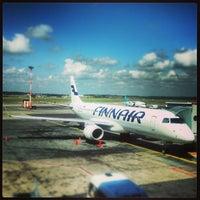 Photo taken at Helsinki Airport  (HEL) by Zack B. on 6/10/2013